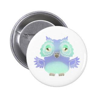 Purple owl button