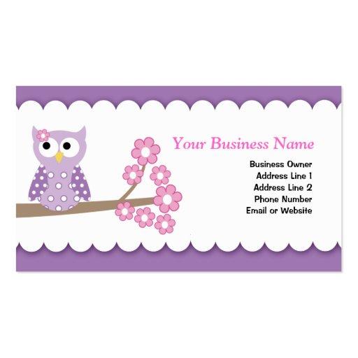 Purple Owl Customizable Business Card Template