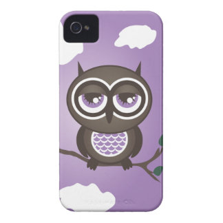 Purple Owl iPhone 4 Case-Mate Barely There Case-Mate iPhone 4 Case