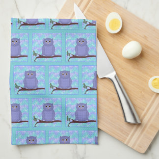 Purple Owl Kitchen Towel
