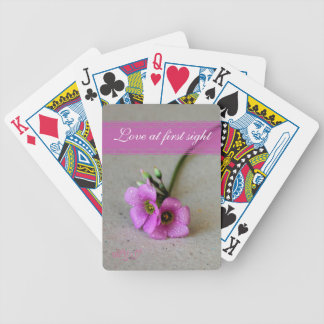 Purple Oxalis flowers with droplets Poker Deck