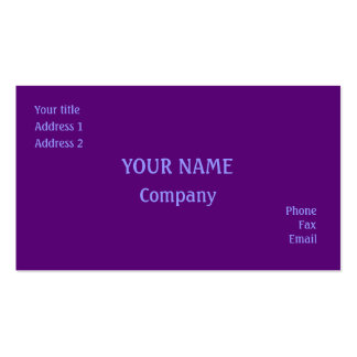 Purple Pack Of Standard Business Cards