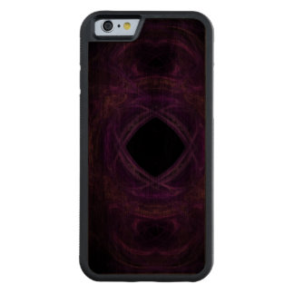 Purple Pain Fractal Walnut iPhone 6 Bumper Case