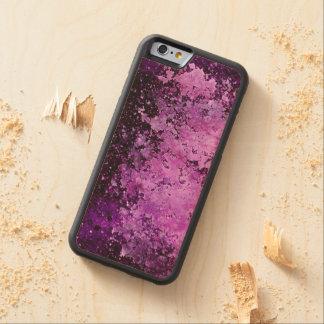 Purple Paint Splatter Acid Wash Texture Carved® Maple iPhone 6 Bumper