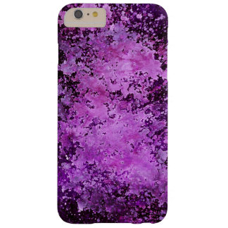 Purple Paint Splatter Acid Wash Texture Barely There iPhone 6 Plus Case