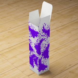 Purple Paint Splatter Wine Gift Box