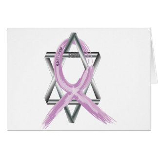 "Purple ""Painted"" General Cancer Ribbon Card"