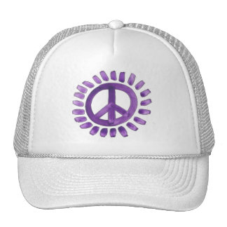 purple painted peace sign Hat