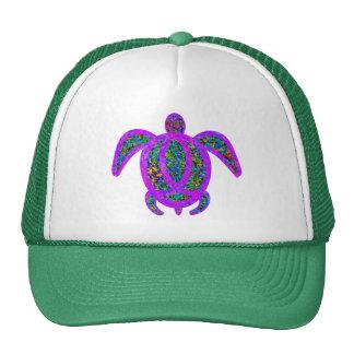 Purple Painted Turtle Trucker Hat