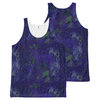 Purple Painterly Abstract All Over Print T-Shirt All-Over Print Tank Top