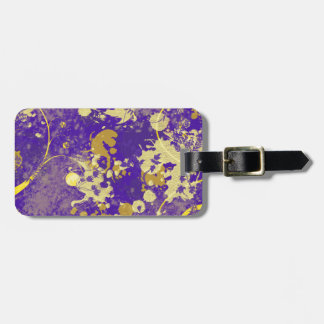 Purple Painting Luggage Tag