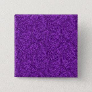 Purple Paisley 15 Cm Square Badge