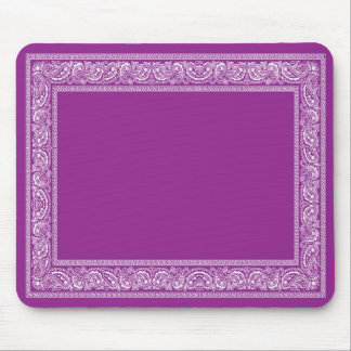 Purple Paisley Bandana Mouse Pad