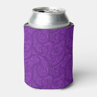Purple Paisley Can Cooler