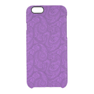 Purple Paisley Clear iPhone 6/6S Case