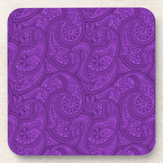 Purple Paisley Coaster