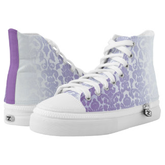 Purple Paisley Days High Tops
