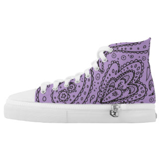 Purple Paisley High Tops
