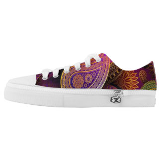 Purple Paisley Low Tops