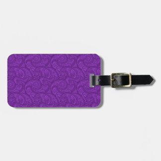Purple Paisley Luggage Tag