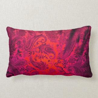 Purple Paisley Lumbar Cushion