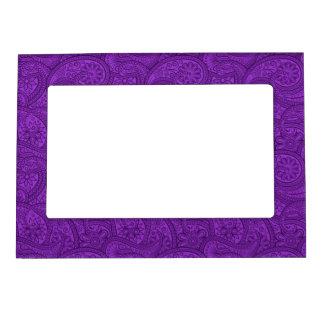 Purple Paisley Magnetic Photo Frame