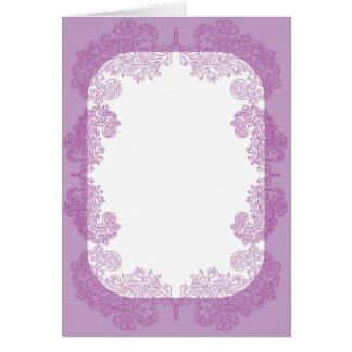 Purple Paisley middle eastern invitation Template