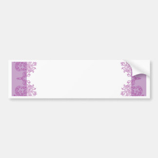 Purple Paisley middle eastern invitation Template Bumper Sticker