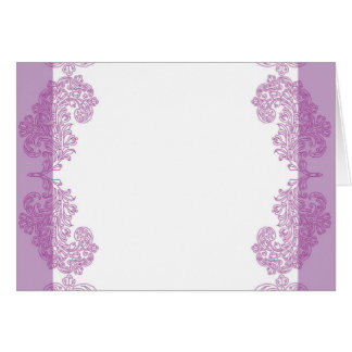 Purple Paisley middle eastern invitation Template Greeting Card