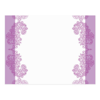 Purple Paisley middle eastern invitation Template Postcard