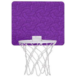 Purple Paisley Mini Basketball Hoop