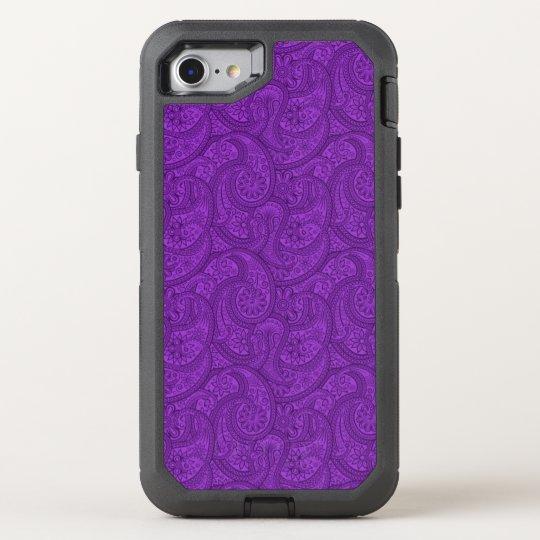Purple Paisley OtterBox Defender iPhone 8/7 Case