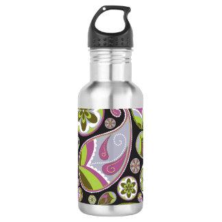 Purple Paisley Pattern 532 Ml Water Bottle