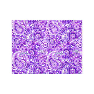 Purple Paisley Pattern Canvas Print
