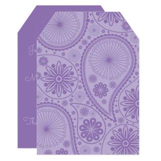Purple paisley pattern card