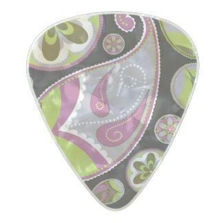 Purple Paisley Pattern Pearl Celluloid Guitar Pick