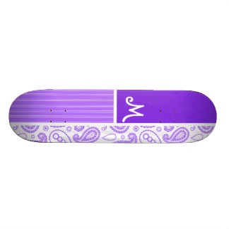 Purple Paisley Pattern Skateboards