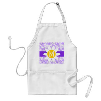 Purple Paisley Pattern; Spring Daisy Aprons