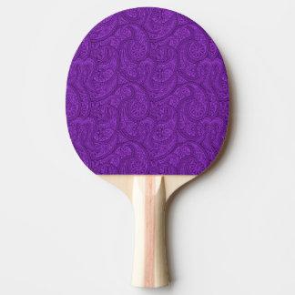 Purple Paisley Ping Pong Paddle