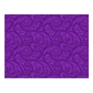 Purple Paisley Postcard