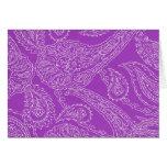 Purple Paisley Print Summer Fun Girly Pattern