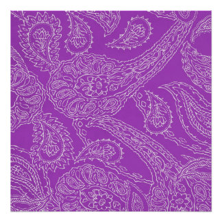 Purple Paisley Print Summer Fun Girly Pattern
