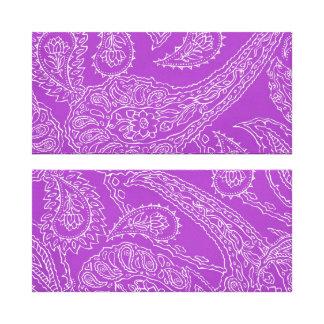Purple Paisley Print Summer Fun Girly Pattern Gallery Wrap Canvas
