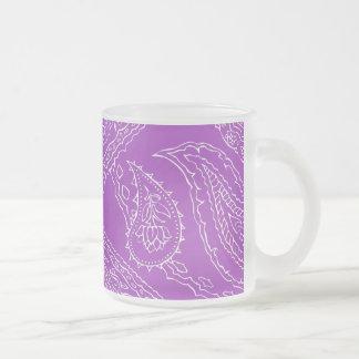 Purple Paisley Print Summer Fun Girly Pattern Coffee Mugs