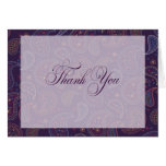 Purple Paisley Thank You Note Cards