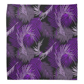Purple Palm Leaves Pattern Bandana