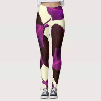 Purple Palm Leggings