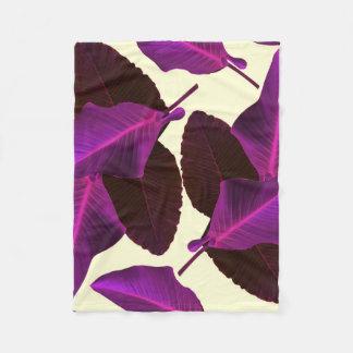 Purple Palms Fleece Blanket