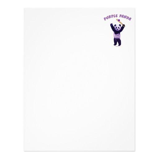 Purple Panda Cricket Personalized Flyer