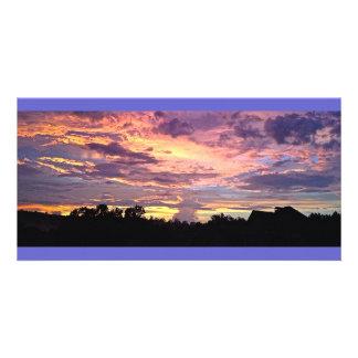 Purple Panoramic Sunset Card